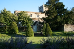 Helmdon Church from the Orangery